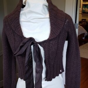 Ted Baker brown wool/angora/nylon cardigan